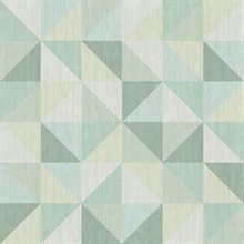 Puzzle Green Geometric Wallpaper