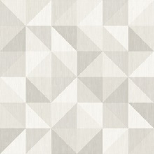 Puzzle Light Grey Geometric Wallpaper