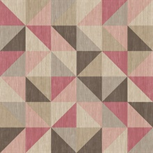 Puzzle Pink Geometric Wallpaper