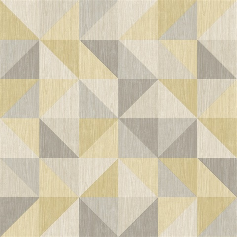 2697 22623 Puzzle Yellow Geometric Wallpaper