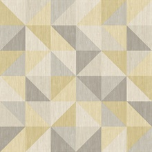 Puzzle Yellow Geometric Wallpaper