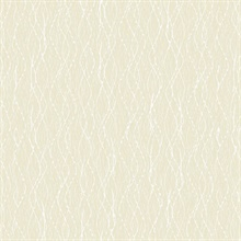 Quinn Light Yellow Twist Wallpaper