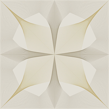 Radius Gold On White Abstract Geometric Wallpaper