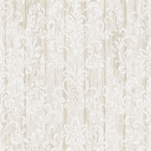 Reba Grey Country Faux Wood Wallpaper