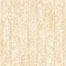 Reba Peach Country Faux Wood Wallpaper