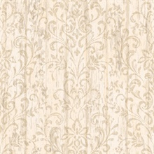 Reba Rose Country Faux Wood Wallpaper