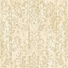 Reba Sand Country Faux Wood Wallpaper