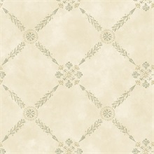Rebecca Cream Trellis Criss Cross Wallpaper