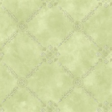 Rebecca Green Trellis Criss Cross Wallpaper