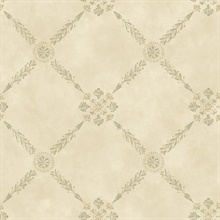 Rebecca Wheat Trellis Criss Cross Wallpaper