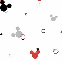 Red & Black Disney Minnie Mouse Dots Wallpaper