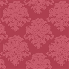 Red Commercial Damask Wallpaper