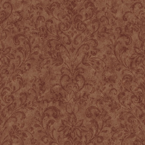 Ffr66342 Red Country Damask Wallpaper Wallpaper Boulevard