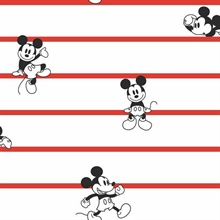Red Disney Mickey Mouse Stripe Wallpaper
