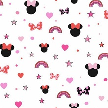Red Disney Minnie Mouse Rainbow Wallpaper