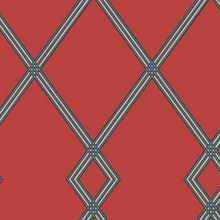 Red Ribbon Stripe Trellis