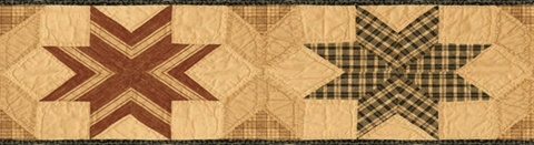 Red Star Quilt Border