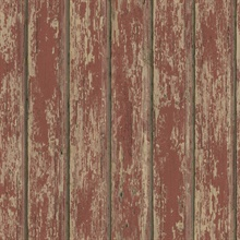 Red Weathered Clapboards Wallpaper