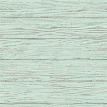 Rehoboth Mint Distressed Wood Wallpaper