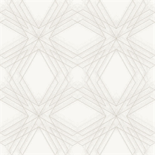 Relativity Off-White & Gold Geometric Wallpaper