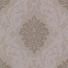 Rennie Brass Damask Wallpaper