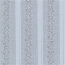 Rennie Stripe Grey Scrolling Stripe Wallpaper