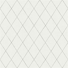 Rhombus Grey Geometric Wallpaper