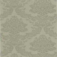 Rice Grey Meridian Damask