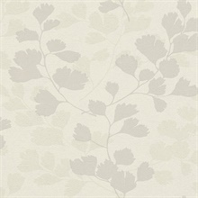 Ripert Light Grey Leaf Silhouette