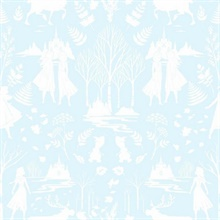 Robin's Egg Blue Glitter  Disney Frozen 2 Nordic Wallpaper