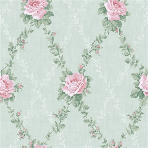 Rose Lattice Floral