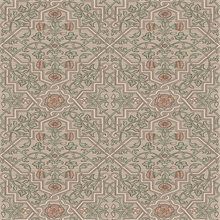Rosenvinge Light Brown Ironworks Wallpaper