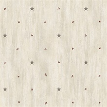 Ross Grey Star Sprig Toss Wallpaper