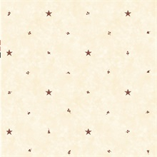 Ross Rose Star Sprig Toss Wallpaper