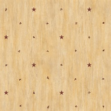 Ross Sand Star Sprig Toss Wallpaper