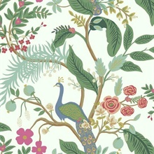 Rouge Peacock Animal Print Rifle Paper Wallpaper