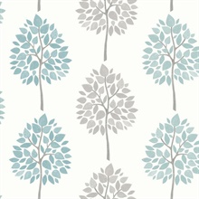 Saar Aqua Tree Wallpaper
