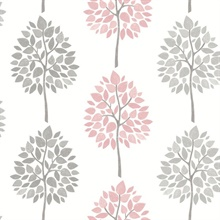 Saar Pink Tree Wallpaper