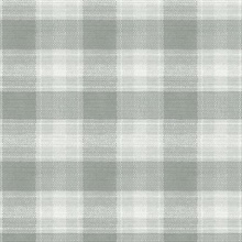 Sage Woven Buffalo Check Plaid Wallpaper