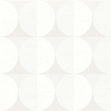 Sahara Moon Light Grey Geometric Wallpaper