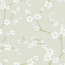 Sakura Light Grey Floral