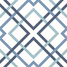 Saltire Blue Geometric Wallpaper