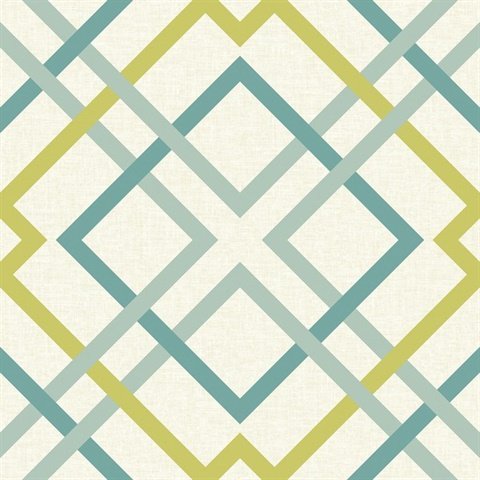 Saltire Green Lattice Wallpaper 2697 22651 Modern