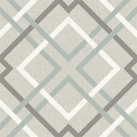 Saltire Taupe Plaid Wallpaper