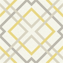 Saltire Yellow Lattice Wallpaper