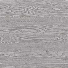 Salvaged Wood Grey Plank Wallpaper