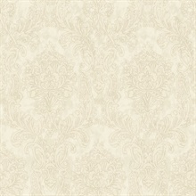 Samantha Grey Damask Wallpaper