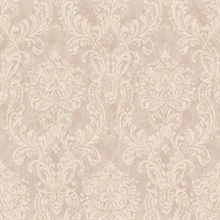 Samantha Mauve Damask Wallpaper