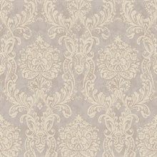 Samantha Purple Damask Wallpaper