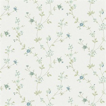 Sameulsson Light Blue Small Floral Trail